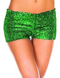 Pantalones Cortos Mujer Shorts de cintura baja sexy Pantalones de lentejuelas para discoteca 5 colores S-XXL Mxssi