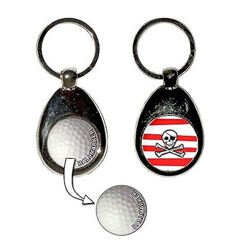 Jolly Roger Stripey - Golf Ball Marker Key Ring