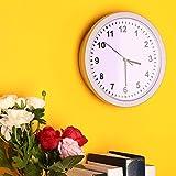 Giantree Idea de regalo única en el hogar, reloj de pared moderno con caja fuerte oculta, joyería secreta Relojes de seguridad Caja de dinero en efectivo Caja de almacenamiento