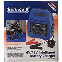 Draper 33861 Intelligent Battery Charger, 6/12 V, Blue preiswert