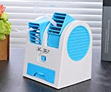 #8: Carecroft Mini Fan Water mist spray Air Cooler Portable for laptop Car room Home Office Small Air Conditioner Powered By Usb & Battery Bladeless Humidifier
