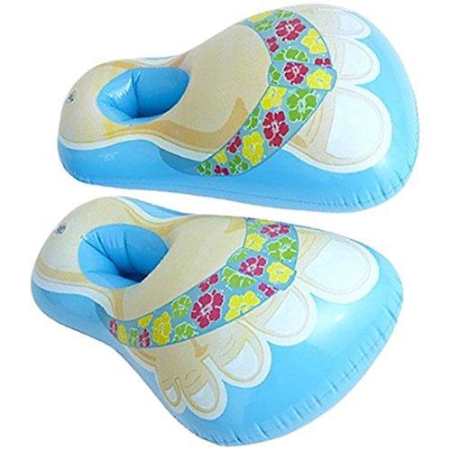 Aufblasbare Hawaii Badeschuhe Schuhe aufblasbar Badelatschen f. Pool Fasching Party (Blau)