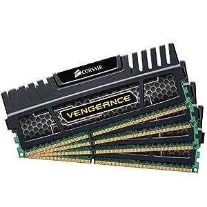 Corsair CMZ16GX3M4A1600C9 Vengeance 16GB Arbeitsspeicher ((4x4GB) DDR3 1600 Mhz CL9 XMP) schwarz