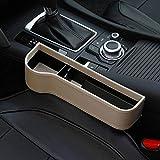 Seasaleshop Autositz Tasche Schlitz Tasche Gap Catcher Aufbewahrungsbox Ablagefach mit PU Leder Kleinteile gutes autozubehör Geeignet für die meisten Autos – Schwarz