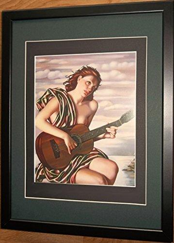 Montiert und gerahmt Art Deco Nude Print, 30,5x 40,6cm gerahmt, Amethyst von Lempicka -