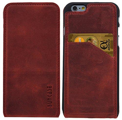 IPhone - 6s suncase étui à rabat en cuir style étui coque housse de protection Antik-Rot