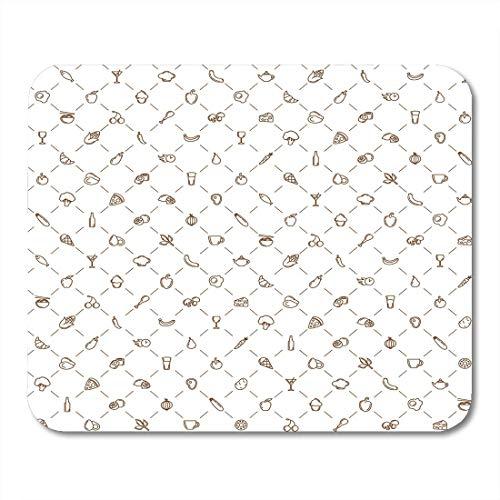 Luancrop Mausunterlage Huhn-Nahrungsmittelmuster-Restaurant-Käse-Pizza-gesundes Fleisch-Mittagessen Mousepad für Notizbücher, Tischrechner-Mausunterlagen, Bürozubehöre -