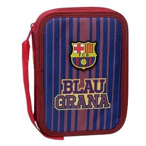 FC Barcelona EP-681-BC Plumier 2 Pisos con Material Escolar