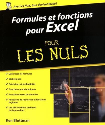 Formules et fonctions pour Excel 2013 et 2016 pour les Nuls par John WALKENBACH