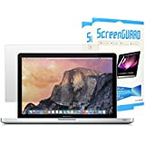 """TOP CASE - (Sets Of 2) Ultra-Clear High Definition (HD) Clear LCD Screen Guard For Old Generation MacBook Pro 13"""" With CD-ROM / DVD Drive Model A1278 - Glossy Clear"""