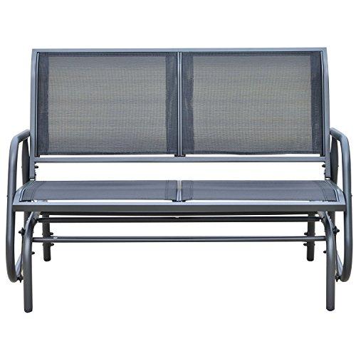 Outsunny Sitzbank, Metall, grau, 123 x 70 x 87 cm, 01-0893 - 2