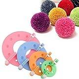Pom Pom Maker, 4 Größen Fluff Ball Weaver Nadel PomPom
