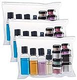 Sichler Beauty Fluggepäck Kulturbeutel: Reißverschluss-Tasche, 12 Kosmetik-Behältern...