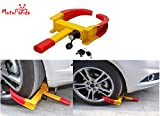 MotoPanda Premium Quality Universal Yellow Anti Theft Car Wheel Lock Clamp For All Cars & SUV- Nypd Style