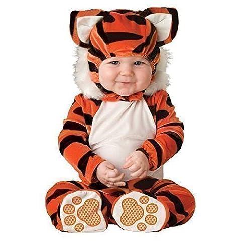 Fancy Me - Costume D'Halloween Pour Bébés Filles Garçons Tigre Livre De La Jungle Personnage Déguisement - Orange, 6-12