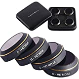 Kismaple G-HD-MC ND4 ND8 ND16 ND32 Filter Lens Quadcopter Filter for DJI Mavic Pro Camera Lens Neutral Density Filters Parts Accessories