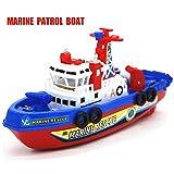 MAKFORT Schiff Spielzeug Wasser Spray Musik Licht Elektrisches Marine Rettung Feuerwehr Boot
