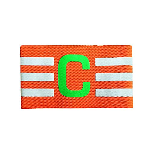 Kinbelle Fußball Armbinden, Multi Farbe Verstellbar Fußball Captain Armband, Orange