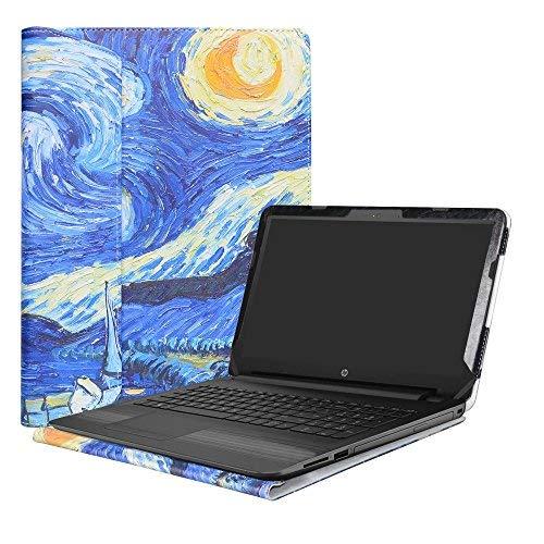 """Alapmk Diseñado Especialmente La Funda Protectora de Cuero de PU para 15.6"""" HP Notebook 15-bsXXX / 15-bwXXX/HP 250 G6 / HP 255 G6 / HP 256 G6 Ordenador portátil,Starry Night"""