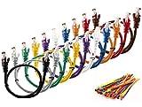 MultiCables 2m Ethernet Cat5E Cavo di Rete UTP con Spina RJ45 per PC, LAN, 2 Meter '10 Pezzi 10 Colori '