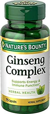 Natures Bounty Ginseng Complex Plus Royal Jelly Herbal Supplement, 75 Capsules by Nature's Bounty