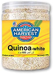 American Harvest Natural White Quinoa In Jar, 600 gm