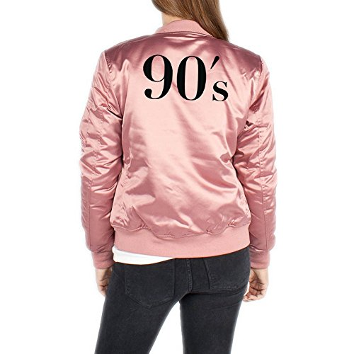 90`s Bomber Chaqueta Girls Rosa Certified Freak-L