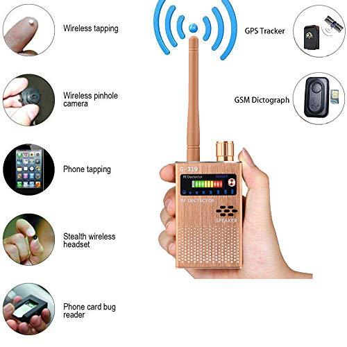 Detector de señal RF inalámbrico Anti-espía Detector de Señal de Cámara GPS,...