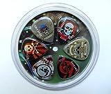 Clearwater Lot de 6médiators de guitare Médiators Rock Pick 0.71mm (moyen) pour médiators avec recharge