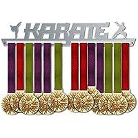 VICTORY HANGERS Soportes Para Medallas KARATE Gancho Exhibidor de Medallas | Sports Medal titolari | Elegante Expositor Para Medallas * 100% Acero Inoxidable | Percha Para Medallas | Para Los Campeones !