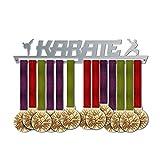 VICTORY HANGERS Porta Medaglie KARATE Medal Hanger * Medal Display | Sports Medal titolari | Elegante Espositore Per Medaglie * 100% Acciaio Inossidabile | Medagliere Da Parete | Per I Campioni !