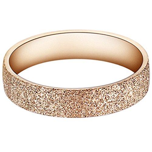 bigshopDE elegant Damen Ring Ehering Glitzer Rosegold Edelstahl Gr. 54 (17.2)