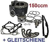 Unbranded 150ccm Tuning Zylinder + STEUERKETTE KOMPLETT für KREIDLER FLORETT INSIGNIO 125 Zylinderkit