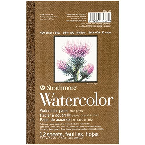 Strathmore Watercolour Paper Pad, Multicolore, 0.86x 13.97x 21.59cm