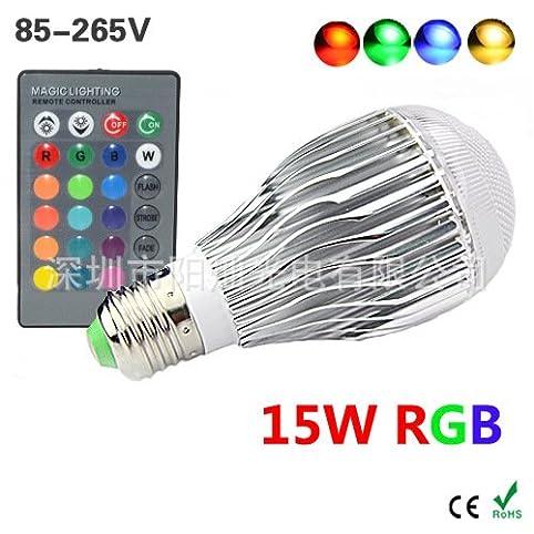 niku led rgb bubble lampe dimmbar 15w glhlampe e27 bunt bunte led lampe - Bunte Led Lampen