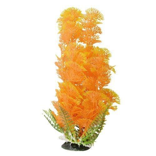sourcingmap® Giallo Arancione Artificiale Vivace Plastica Acquario Piante