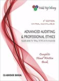 MakeMyDelivery CA Final Complete Hand written Book Advanced Auditing & Professional Ethics Old Syallbus By Abhishek Bansal Applicable for May 2018 Exam