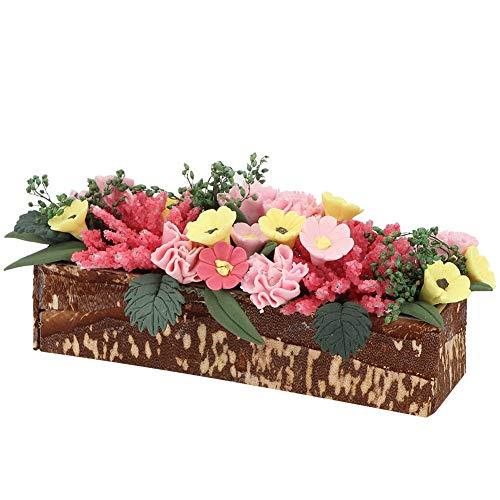 Mootea Flor de casa de muñecas, 1/12 Planta de Flor de Arcilla de Madera en Miniatura Casa de muñecas Jardín Decoración de habitación Accesorio Juguete Educativo