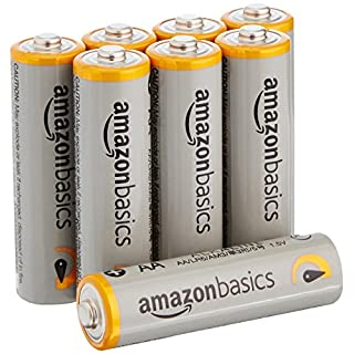 AmazonBasics AA Performance Alkaline Batteries [Pack of 8] - Packaging May Vary
