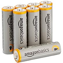 AmazonBasics - Pilas alcalinas AA 'Performance' (Paquete de 8) - Diseño variable