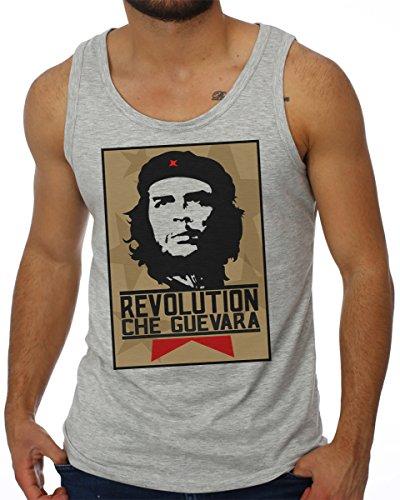 OM3 - CHE GUEVARA - Tank Top Viva La Revolution Free Cuba Libre Peace Pace USA Rum Ron Geek Swag,...