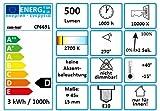com-four® 9X Riffelkerze für Schwippbögen mit 7 Lampen, 34V / 3W, mit E10 Schraubgewinde (09 Stück) Vergleich