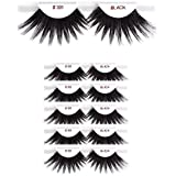 6packs Eyelashes - #301 Christina 100% Human Hair Fake Eyelashes
