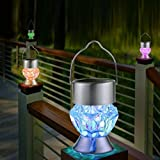 Solar-Diamant-Lampe Kronleuchter,HKFV Waterproof Solar Rotatable Outdoor Garden Camping Hanging LED Light Lamp Bulb