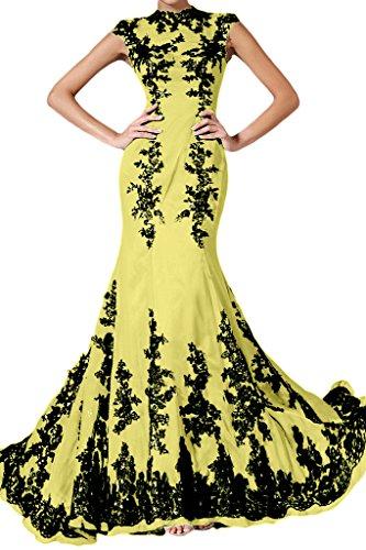 ivyd ressing Femme élégant motif dentelle Mermaid longue mousseline Lave-vaisselle robe robe du soir Nazisse