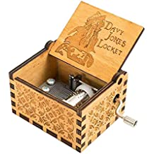 Cooshional Caja de Musica Piratas del Caribe Estilo Retro de Madera Tallada a Mano
