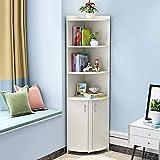 Regal Corner-Side-Kabinett Mit Door Modern Minimalist Rack Triangle Cabinet Kreatives Wandregal,White,M