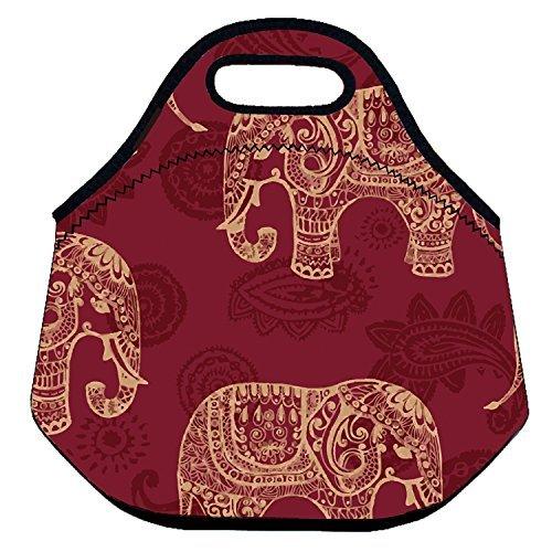 ZMvise Art d'adopter Un éléphant Orphelins Lunch Tote Isotherme réutilisable Picnic Lunch Sacs Boîtes pour Homme Femme Adultes Enfants Toddler infirmières