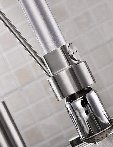 AI LI WEI Bathroom Furniture - Contemporary Single Handle LED Pull-out Kitchen Faucet