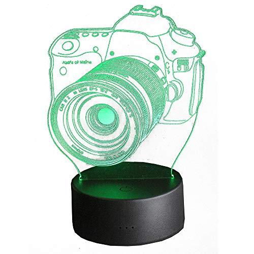 3D 3D Deko Lampe - Farbe ändern mit Fernbedienung - USB LED - Home Dekoration, Geschenke, Kinder (Fotokamera)